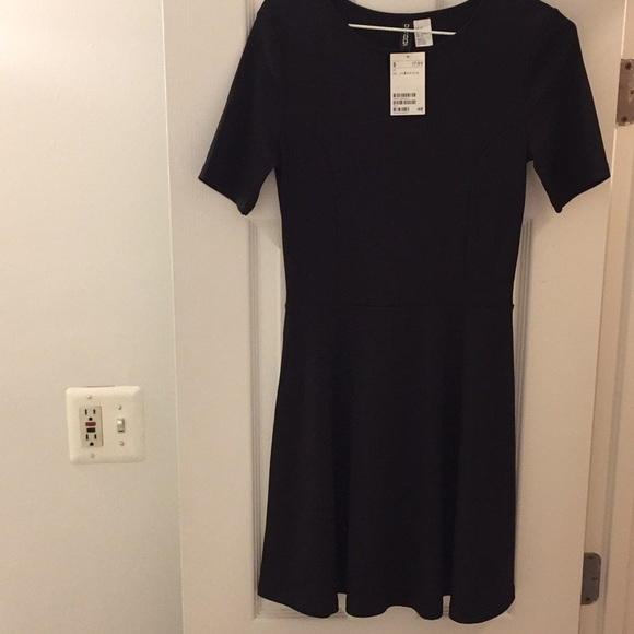 19a3d85b080 NWT Black Ribbed H M Dress